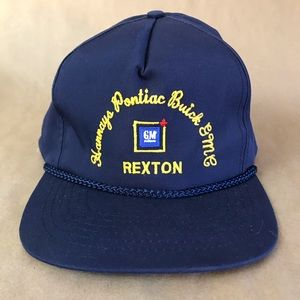 Vintage GM Pontiac Buick Dealership Hat Rexton NB